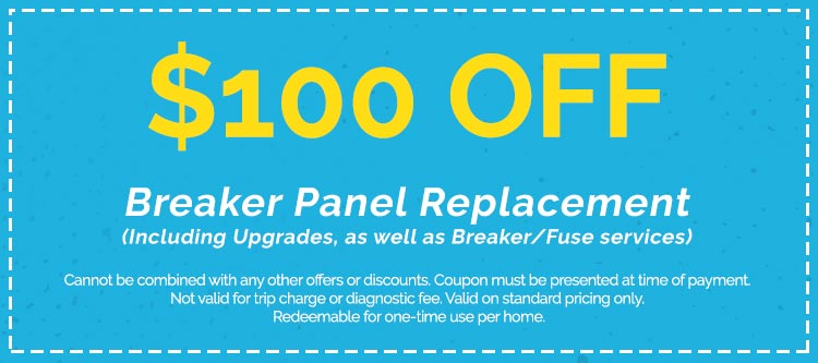 Discounts on Breaker Panel Replacement