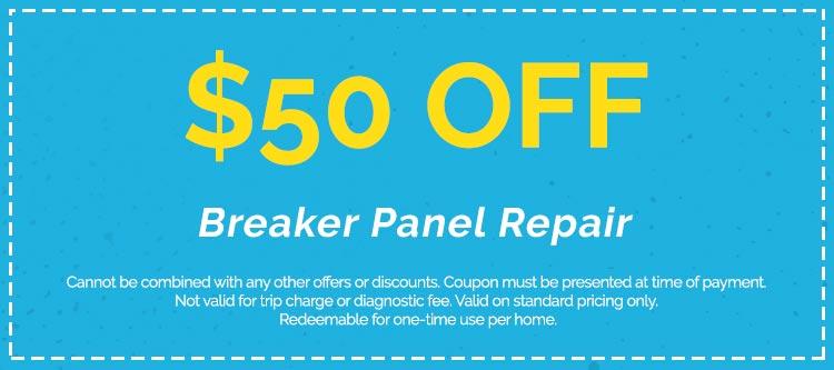 Discounts on Breaker Panel Repair