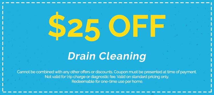 Discounts on Drain Cleaning