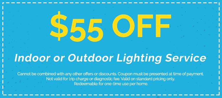 Discounts on Indoor or Outdoor Lighting Service