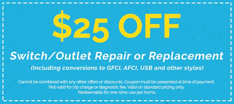 Switch/Outlet Repair & Replacement Services Coupon