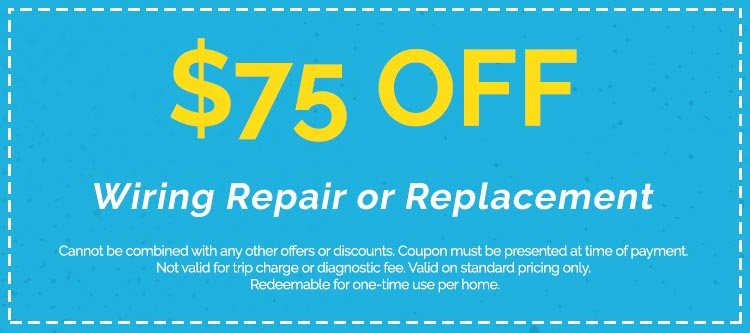 Discounts on Wiring Repair or Replacement